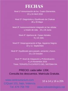 fechas violetas sistema Ra abril 2016
